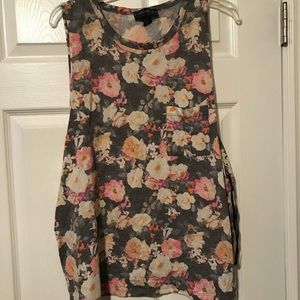 LIKE NEW Forever 21 Floral Tank Top SIZE 1X WOMEN
